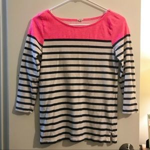 J. Crew Striped T Shirt